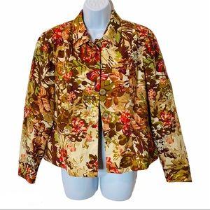 🌈BUNDLE SALE Floral Print Button Down Jacket